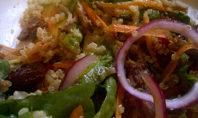 Quinoa, Chipotle and Pulled Pork Salad